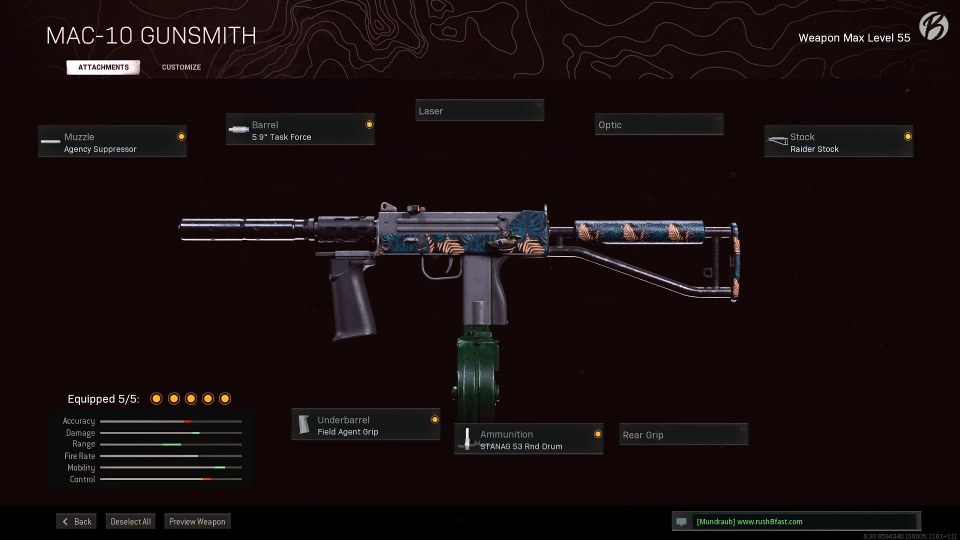 Call of Duty Warzone - Cold War Season 2 - MAC-10