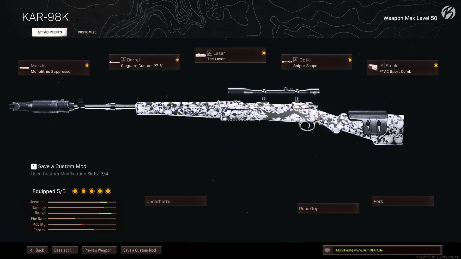 Call of Duty Warzone - Cold War Season 2 - Kar98k