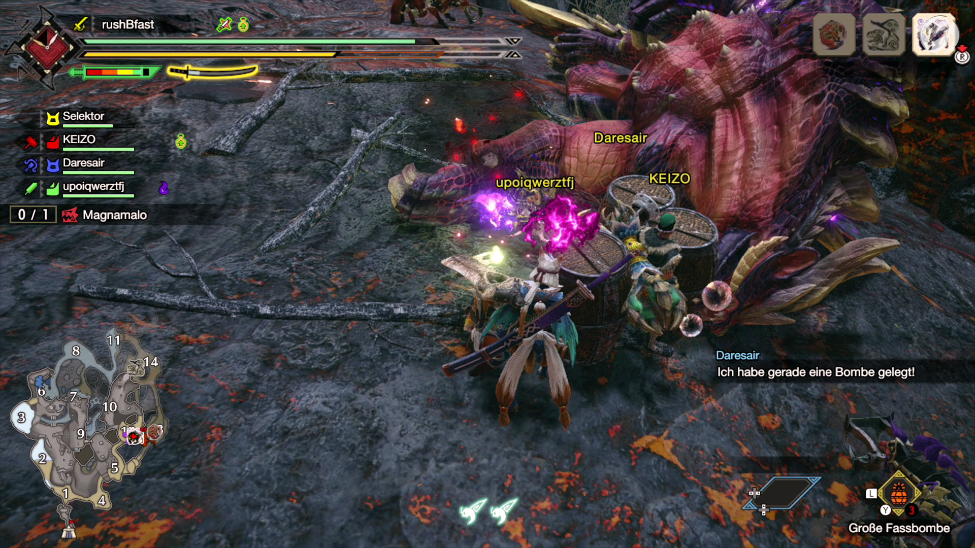 Monster Hunter Rise - Profitipp: Schlafmunition und große Fassbomben können sehr effektiv sein!