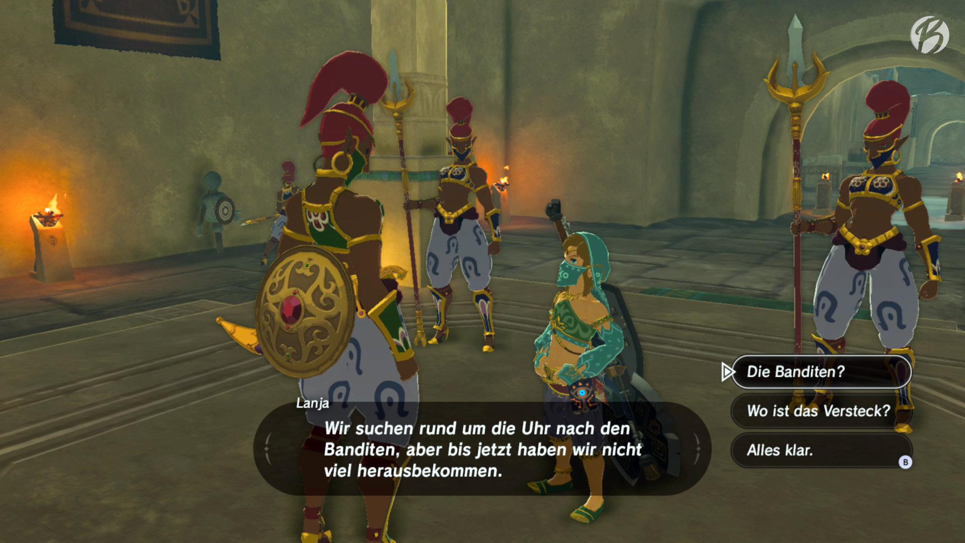 The Legend of Zelda: BotW - Ein seltener Anblick: Link als Frau verkleidet.