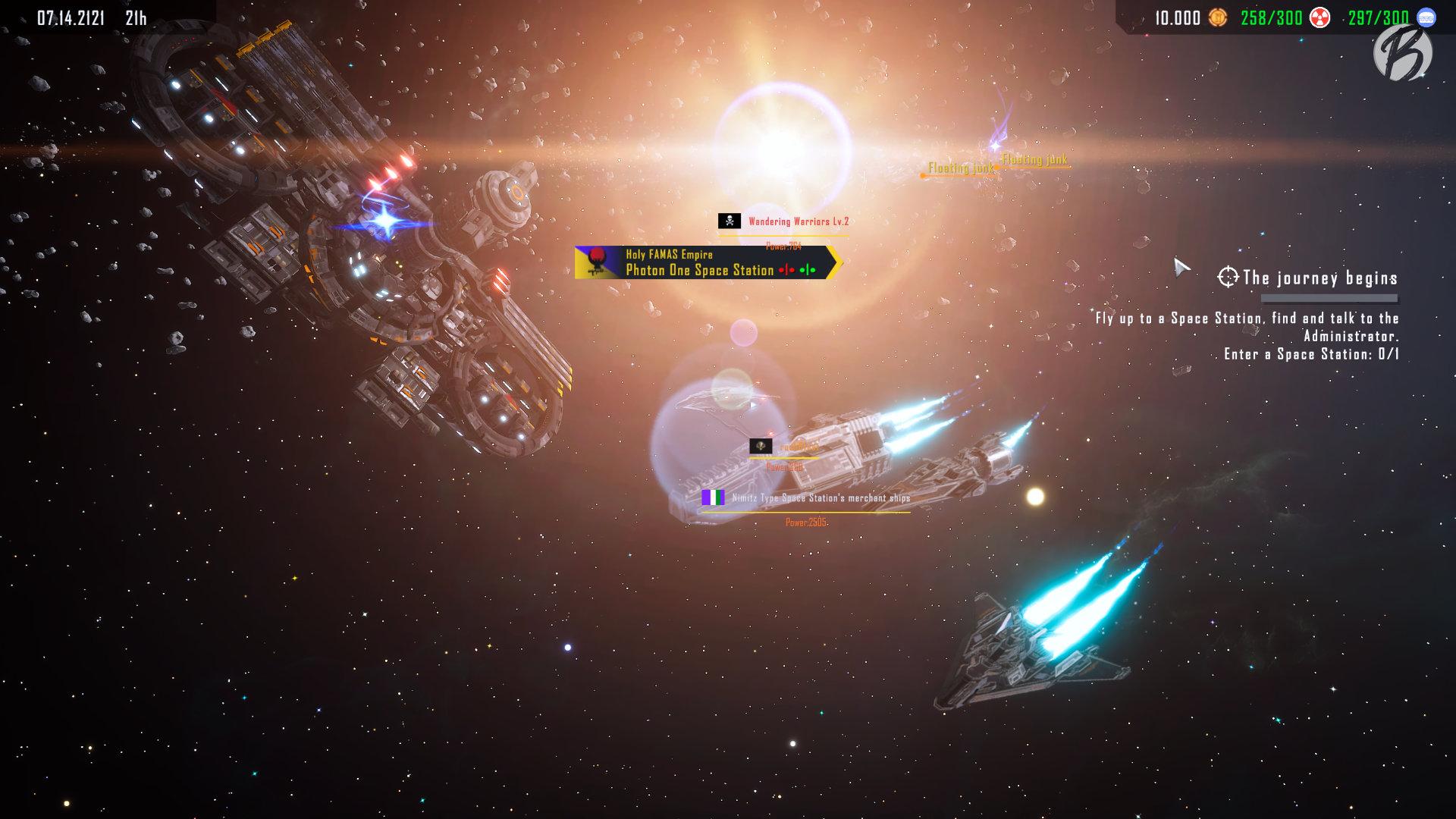 Earth From Another Sun - Über die Galaxiekarte bewegen wir unsere Flotte von einem Ereignis zum nächsten.
