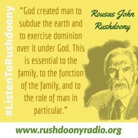 Rushdoony Quote 39