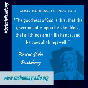 Rushdoony Quote 72