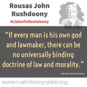 Rushdoony Quote 126