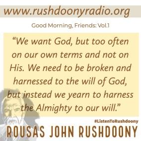 Rushdoony Quote 130