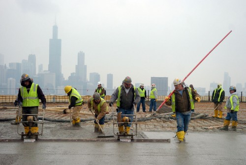 Construction continues on the new hospital tower at Rush University Medical Center in Chicago