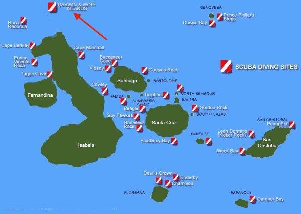 Galapagos-scuba dive-site-map