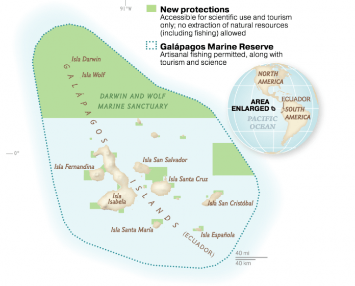 galapagos marine sanctuary map