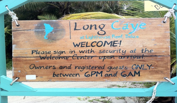 welcome to Long Caye