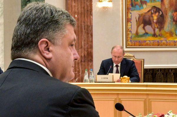 Ukraine's President Poroshenko, Russia's President Putin and Foreign Minister Lavrov attend a meeting in Minsk