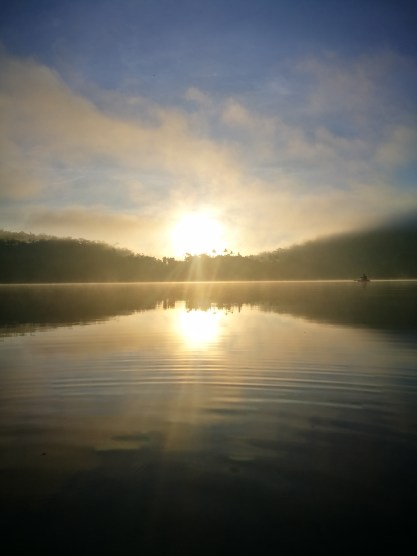 sunrise at lake Danao