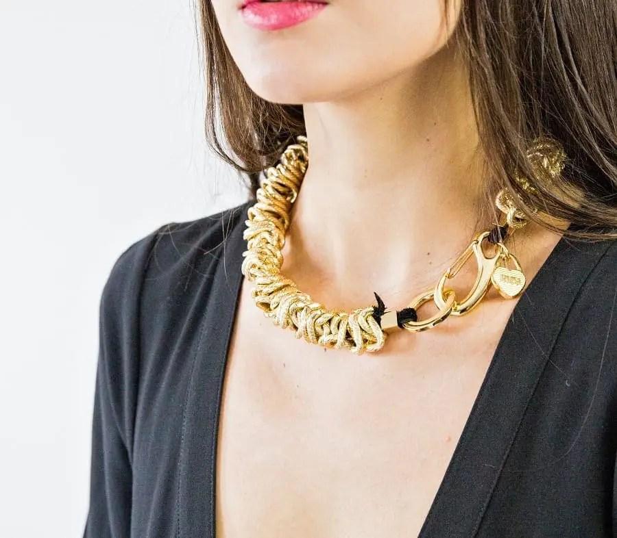 101 matt gold front clasp