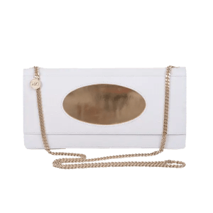 White Eclipse Clutch Bag