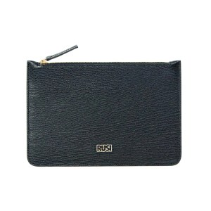 Elegant Leather Pouch in Black