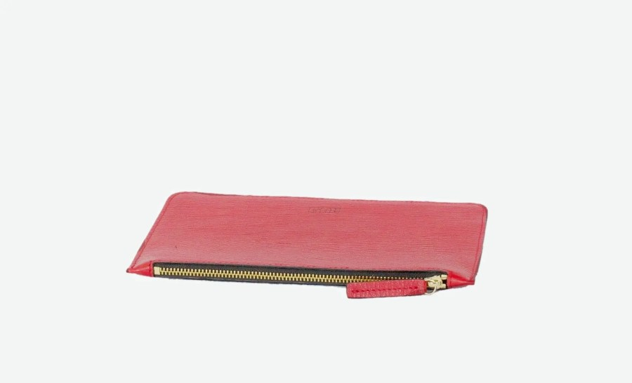 Elegant Leather Pouch Red