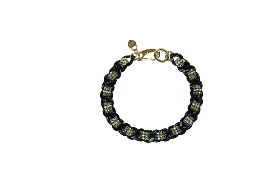 Black Clear plexi chain necklace  scaled
