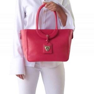 Mezzaluna Tote Bag in Pink