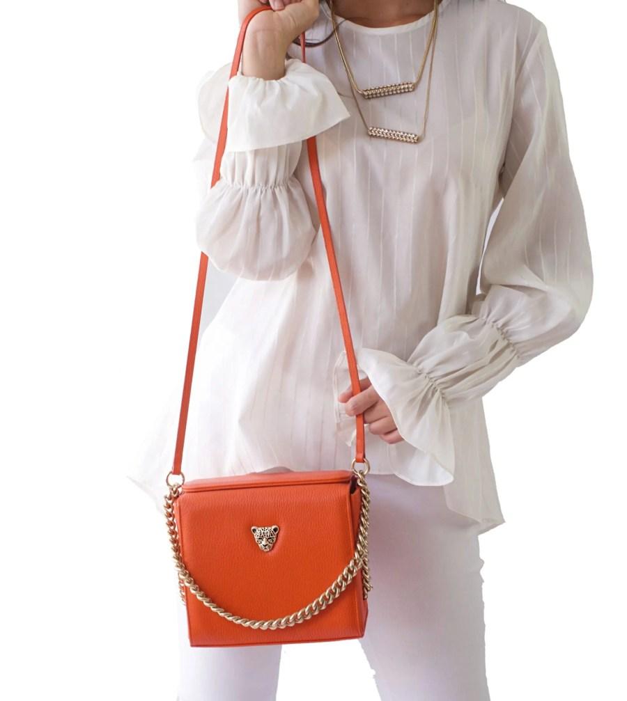 Orange MiniB Tote Bag Rusi