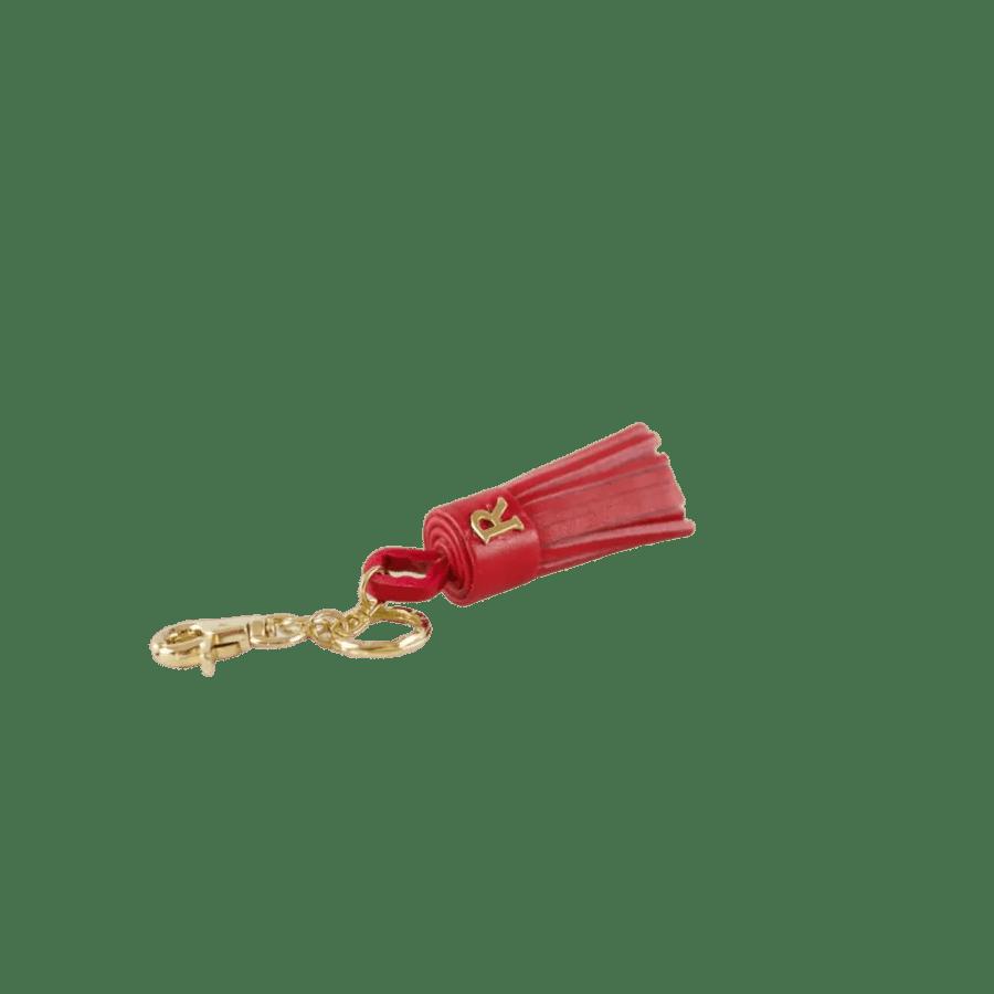Red Leather Tassel Keyring