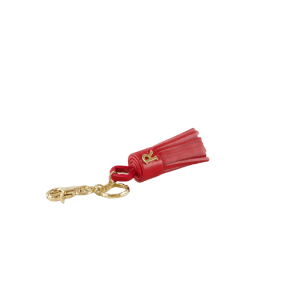 Red Leather Tassel Keyring