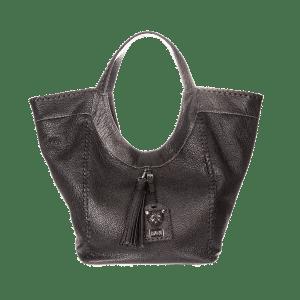 Large Black Leather Hobo Slouchy Bag Sara Bag