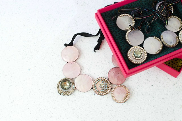 big moon necklaces w pink boxes