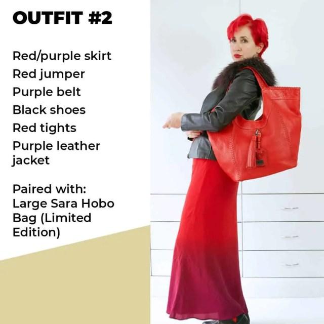 red theme look 2 sara bag