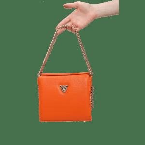 Orange MiniB boxy bag