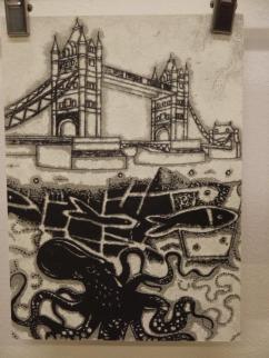 dawn-finn-tower-bridge-painting-with-octopus