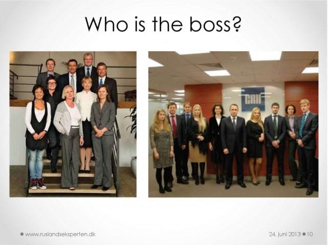 """""""Who is the boss"""" - Hvordan du begår dig russisk hierarki"""