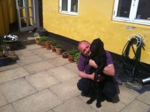 Per Dalgård med sin hund Masjka