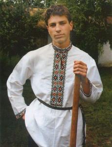Мужская рубаха украинских переселенцев