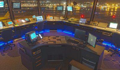 ATC tower island console