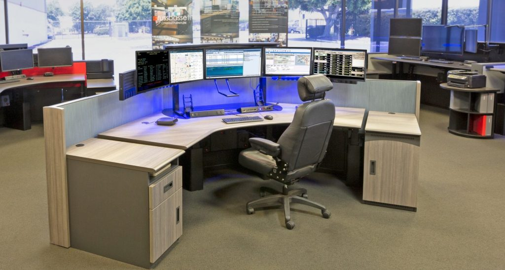 911 dispatch consoles disinfected by UVC wand