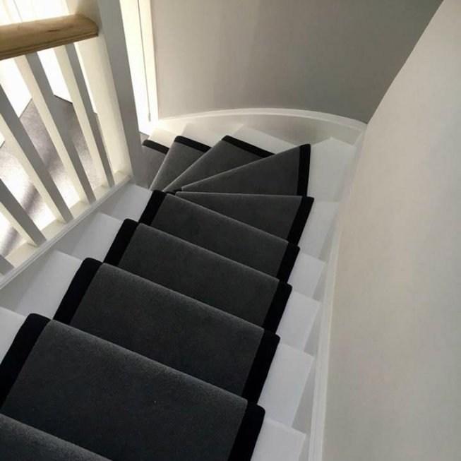 Russdalesour Work Russdales   Dark Grey Carpet Stairs   Fitted   Black   Grey Vinyl Flooring   Dark Brown   Floor