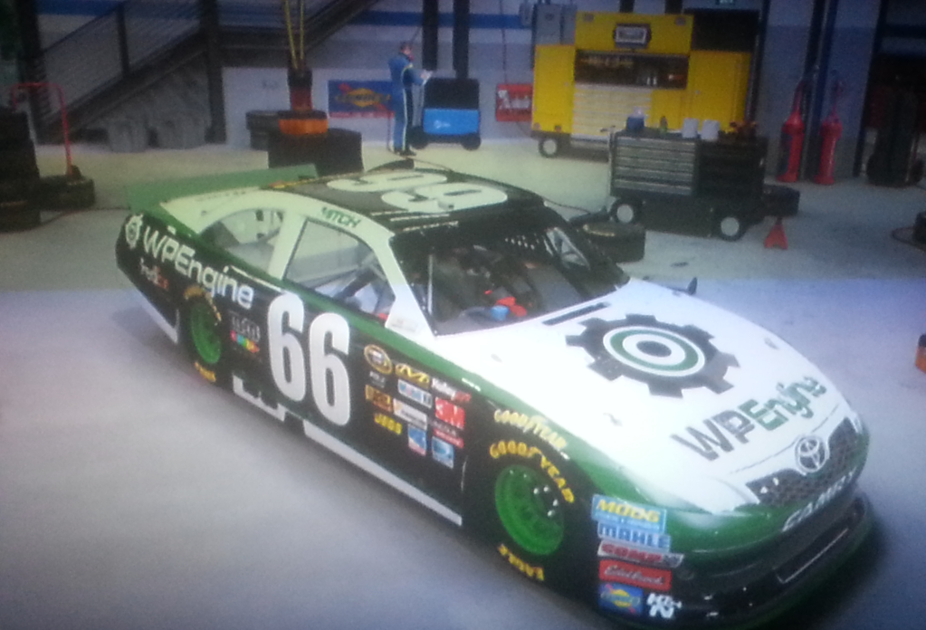 WPENGINE Nascar The Game: Inside Line Paint Scheme