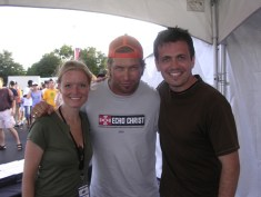 Russell and Kristi with Stephen Baldwin
