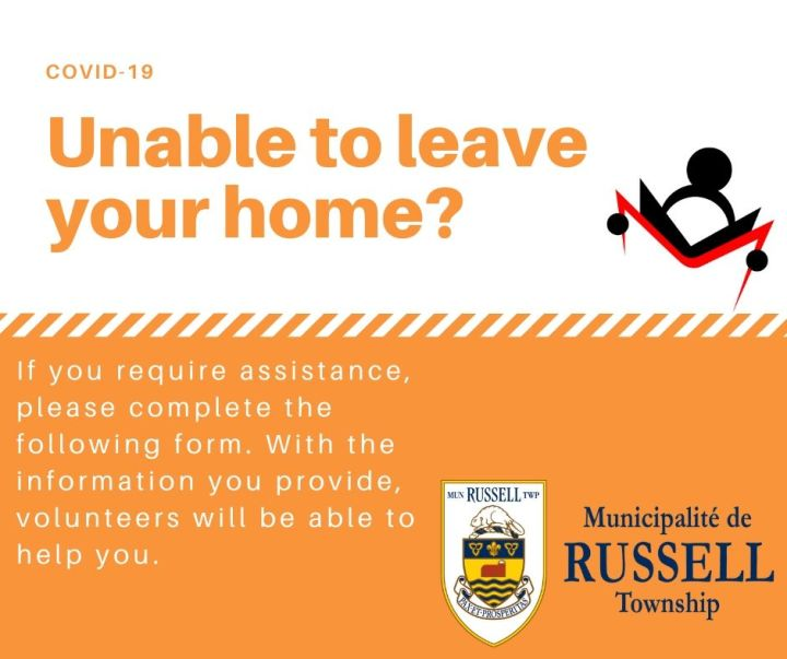 Do you require assistance? Register here. Unable to leave your home? If you require assistance, please complete the following form. With the information you provide, volunteers will be able to help you.