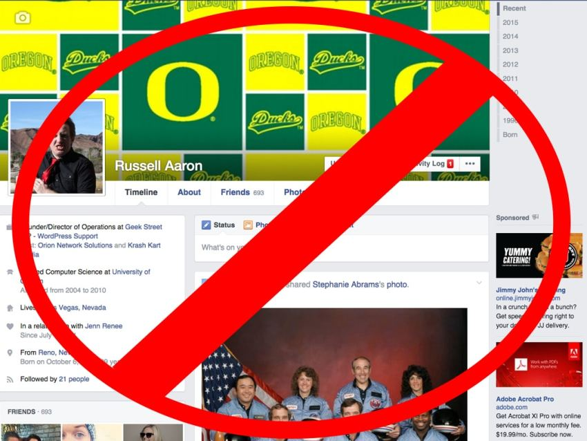 No Facebook Posting From February First… to who knows when. Hopefully longer.