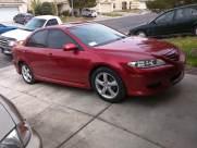 Red Mazda 6 2003 Las Vegas