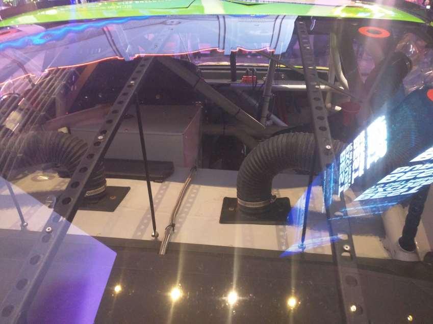 Kyle Busch Sprint Cup Series Car- Rear Window View