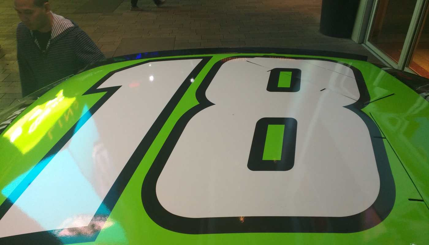 Kyle Busch Sprint Cup Series Car- Roof Number