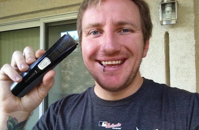 Shaving outside saving money and time
