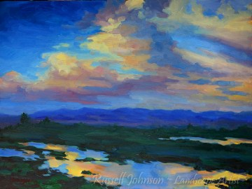 Arizona Landscape Oil Painting by Russell Johnson