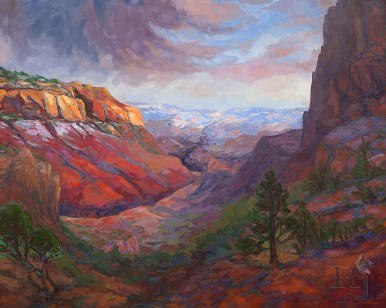 The Grand Canyon Sublime by Russell Johnson Prescott Landscape Painter