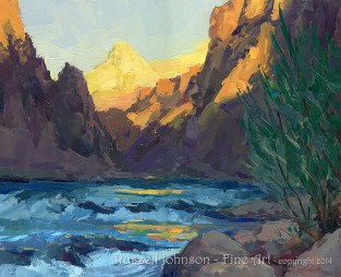 Reverie at Granite Rapids Grand Canyon, by Russell Johnson