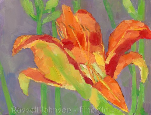 floral oil painting by Russell Johnson
