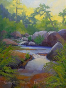 Midsummer Eve, Oak Creek, by Russell Johnson Landscape Artist