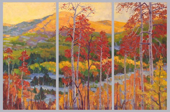 Russell Johnson landscape artist Colorado Painting