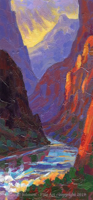 Russell Johnson Grand Canyon painter